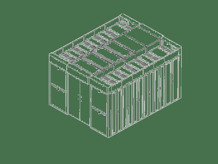 百特帕克BPSA系列机柜级冷冻水模块化数据中心 冷通道解决方案
